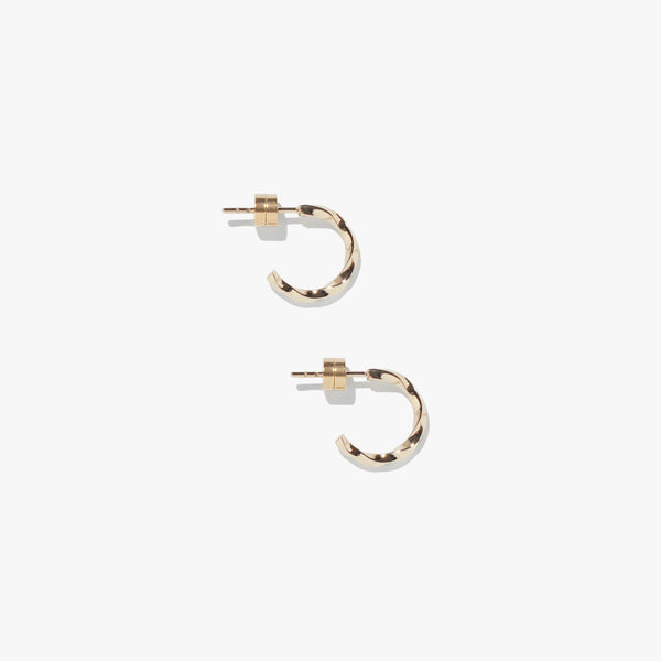 Vortex Mini Twist Hoops - Gold