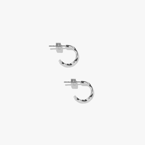 Earrings - Vortex Mini Twist Hoops - Silver