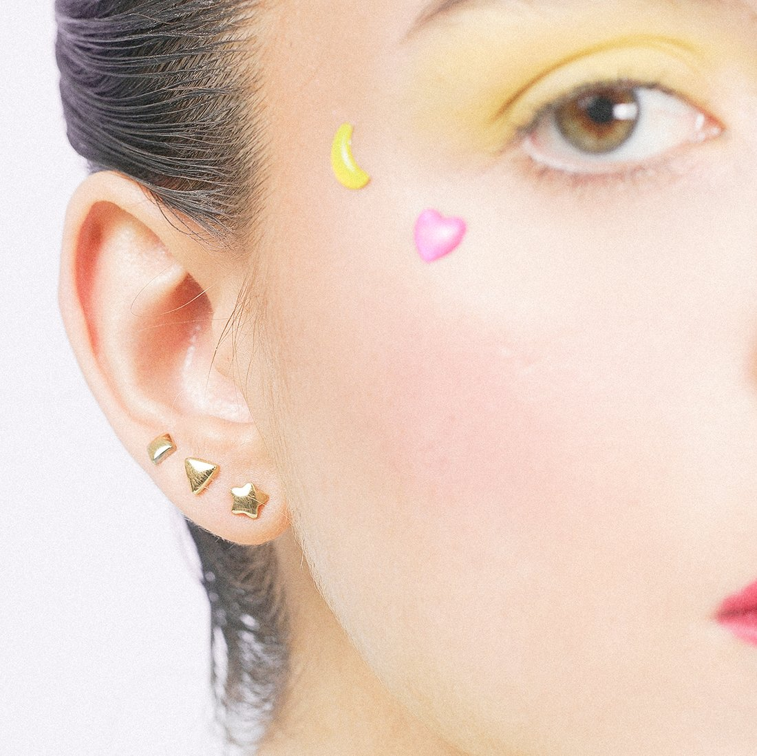 'Forever Sticker Earrings' - Gold