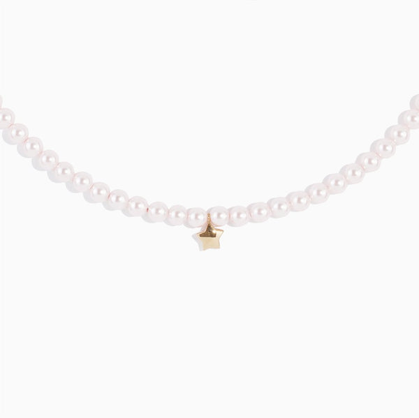 'Pearlette Star' Choker - Rose Gold