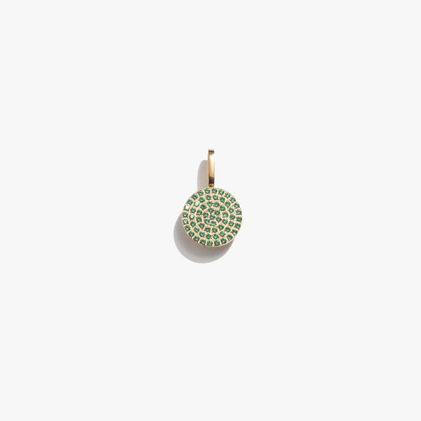 Pendant - Emerald Circle Pendant - Gold