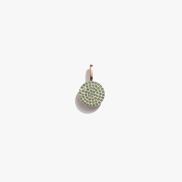 Emerald Circle Pendant - Rose Gold