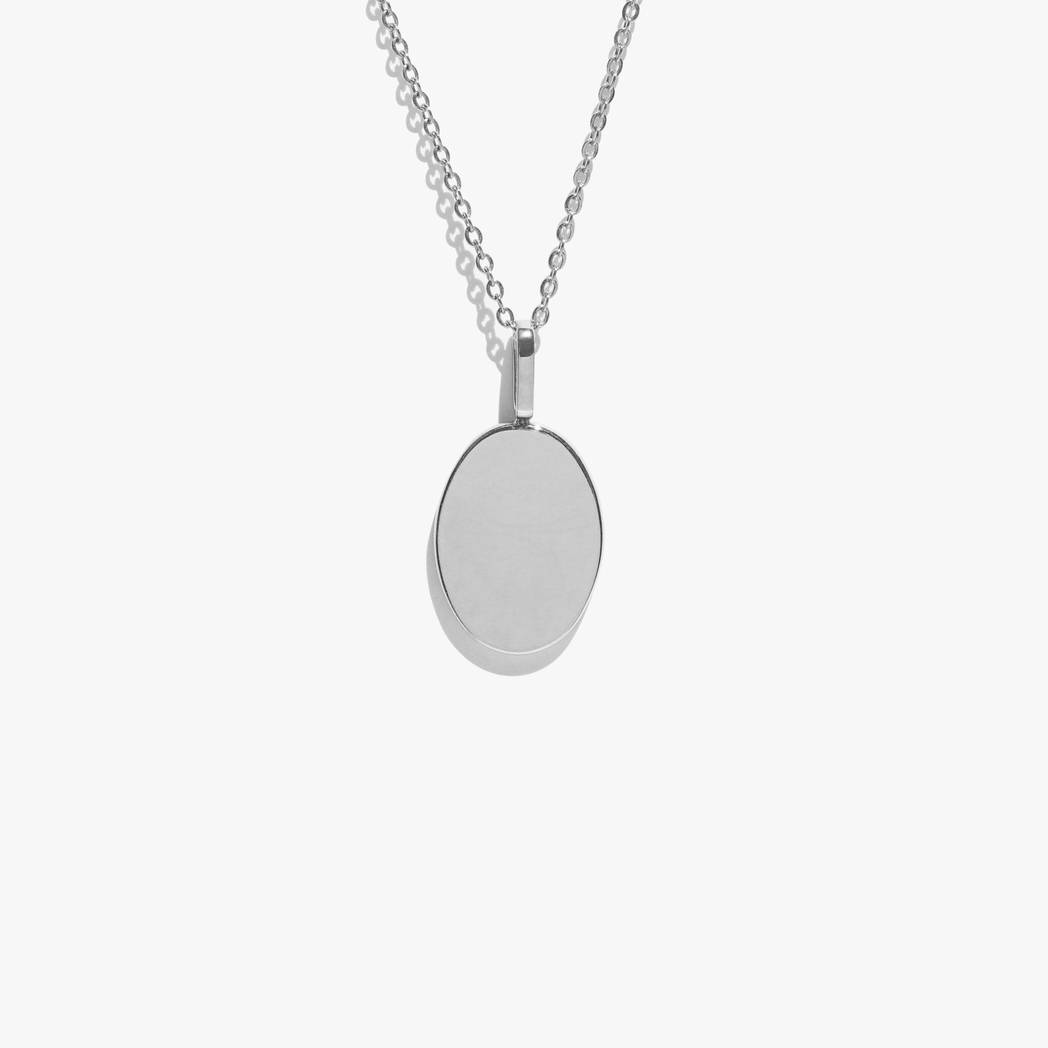 Oval Pendant - Silver