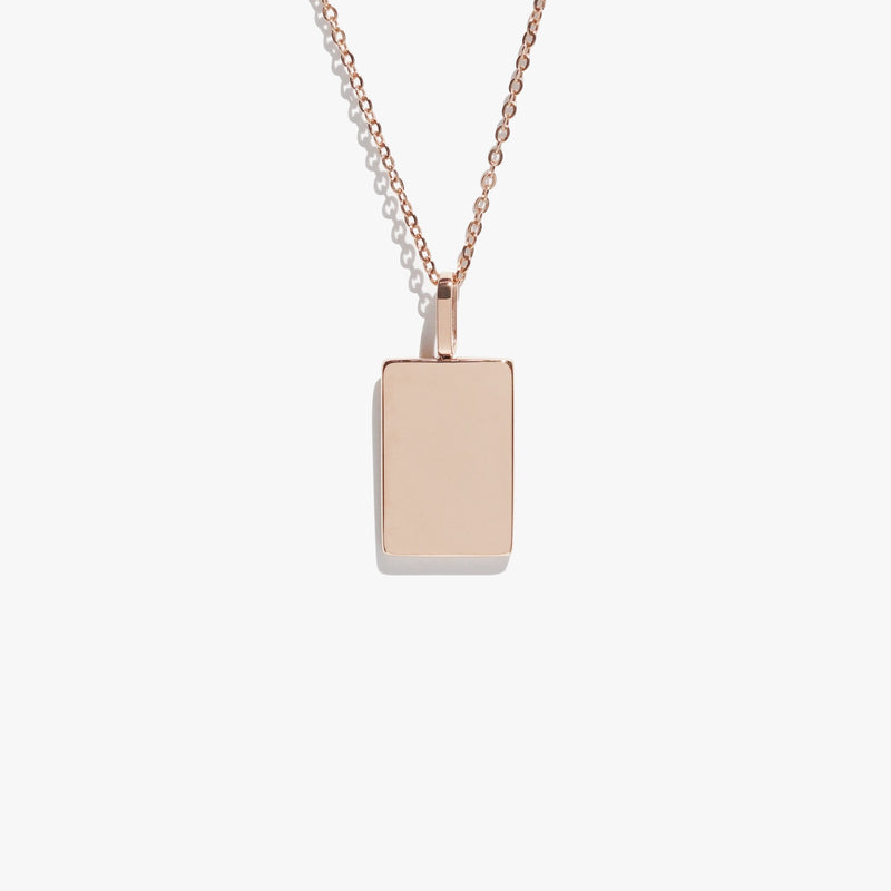 Rectangle Pendant - Rose Gold