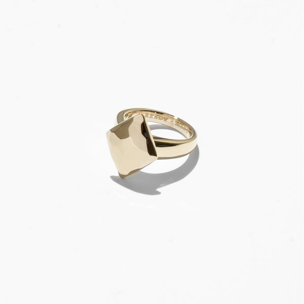 Rings - Diamond Cut Jelly Ring - Gold