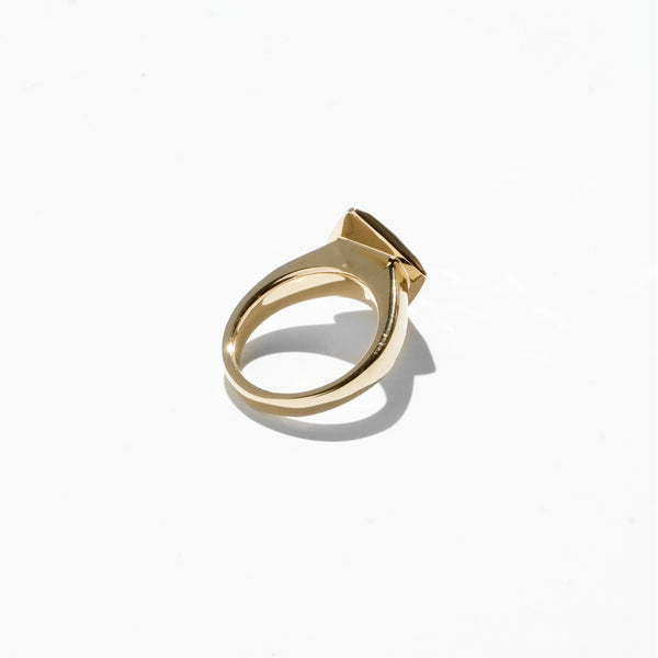 Diamond Cut Jelly Ring - Gold