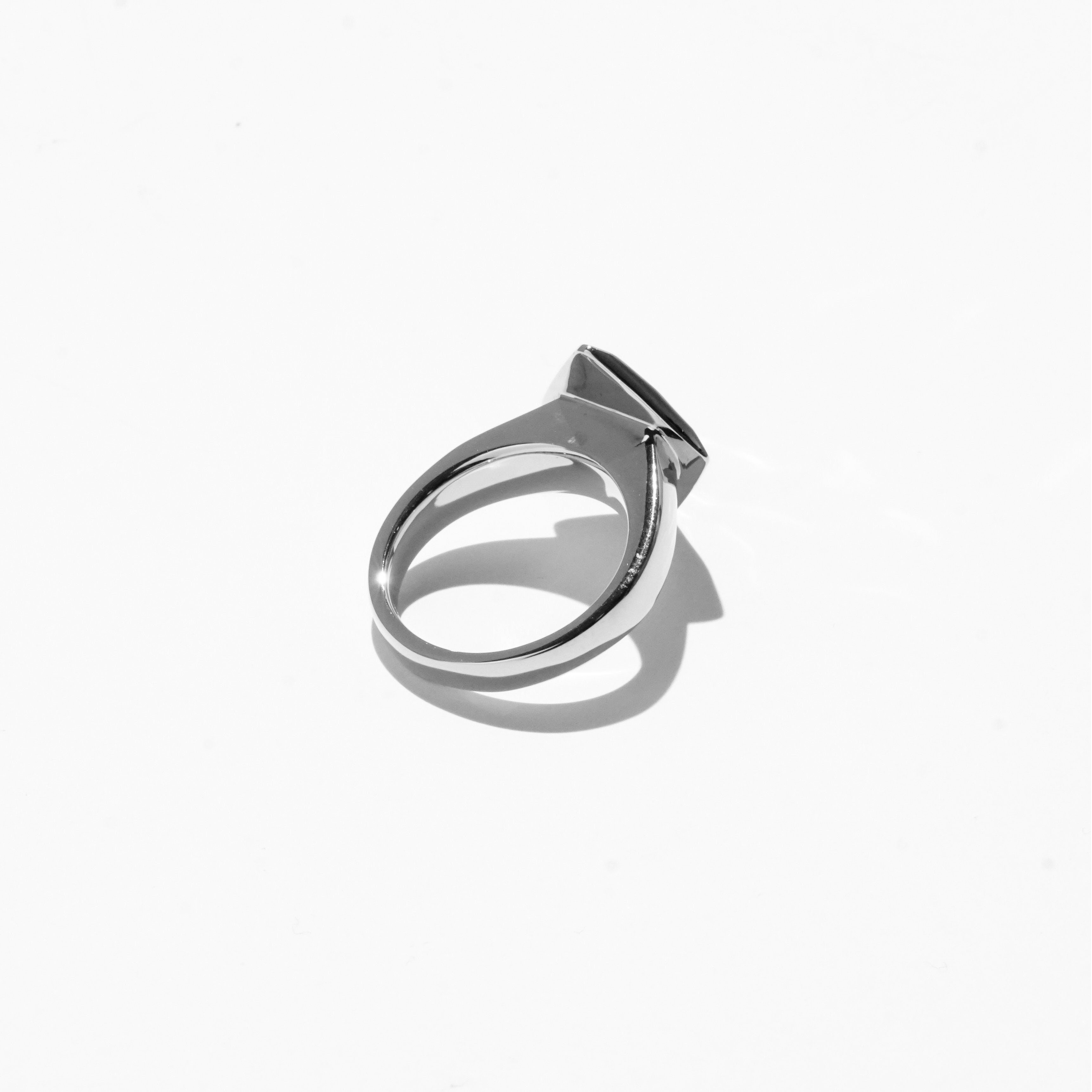 Rings - Diamond Cut Jelly Ring - Silver