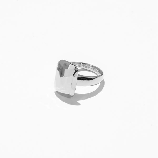 Rings - Emerald Cut Jelly Ring - Silver