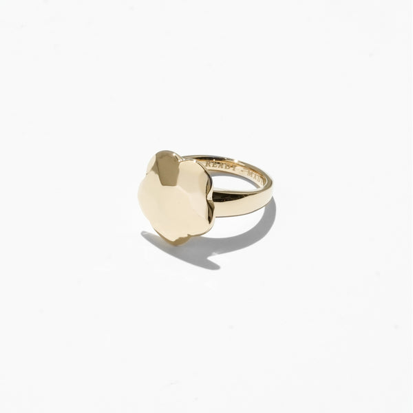 Rings - Flower Cut Jelly Ring - Gold