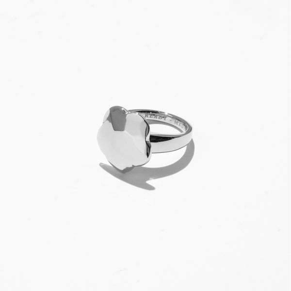 Flower Cut Jelly Ring - Silver