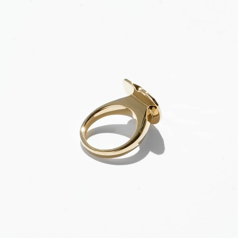 Rings - Heart Cut Jelly Ring - Gold