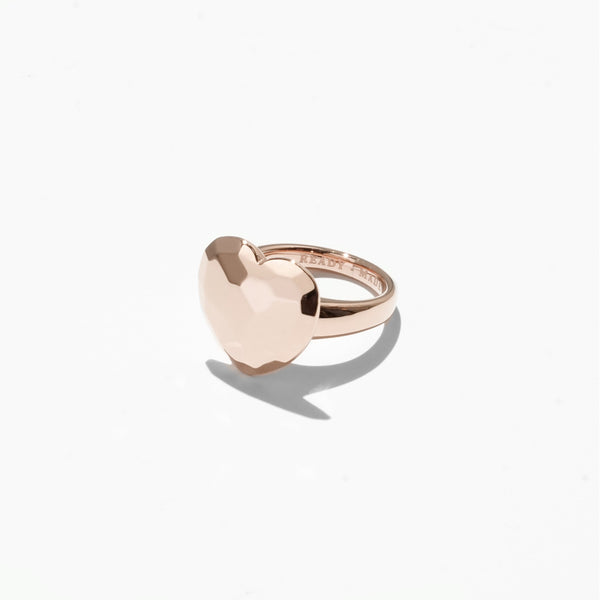 Heart Cut Jelly Ring - Rose Gold