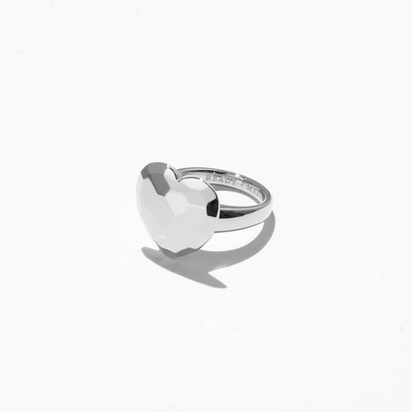 Rings - Heart Cut Jelly Ring - Silver