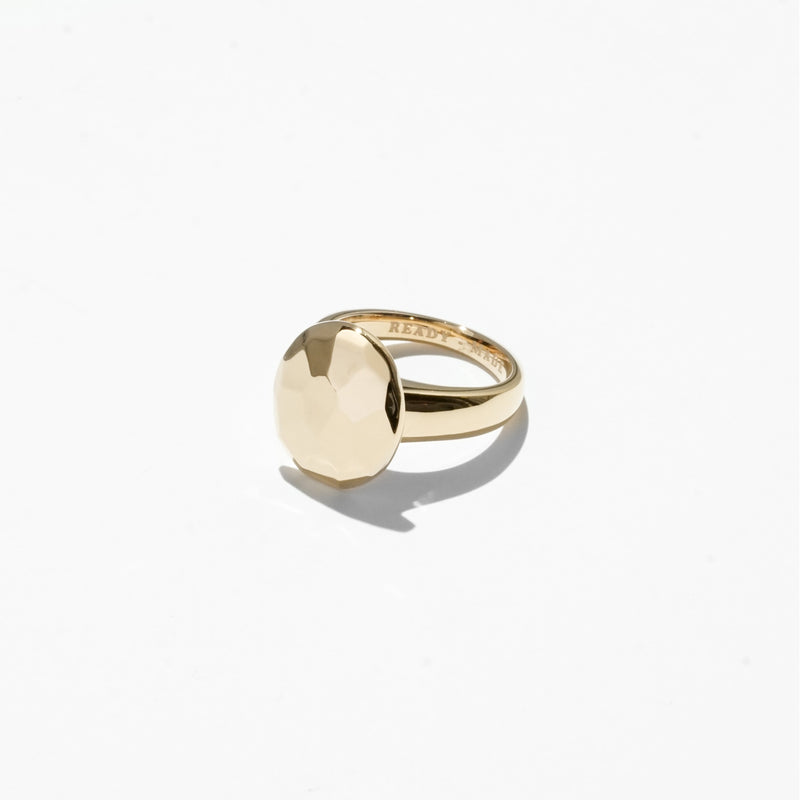 Rings - Oval Cut Jelly Ring - Gold