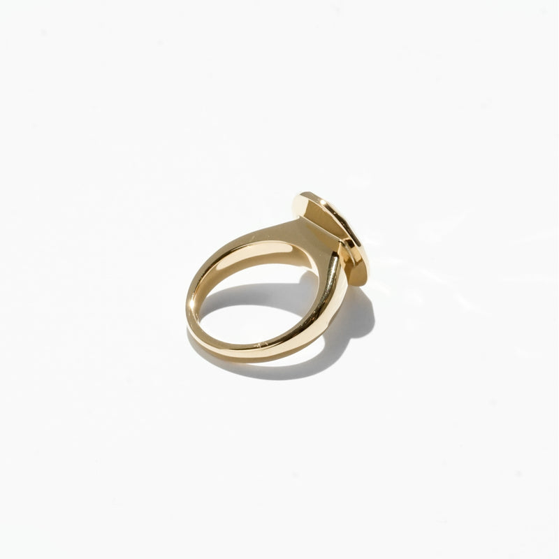 Oval Cut Jelly Ring - Gold