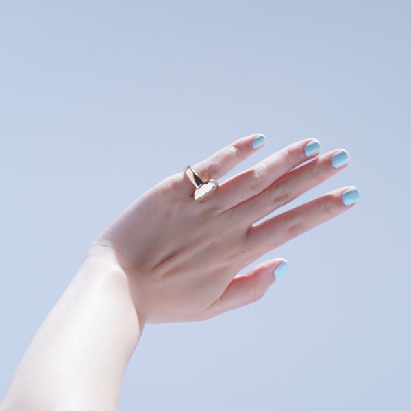 Rings - Oval Cut Jelly Ring - Rose Gold