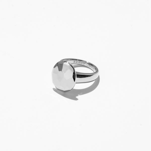 Oval Cut Jelly Ring - Silver