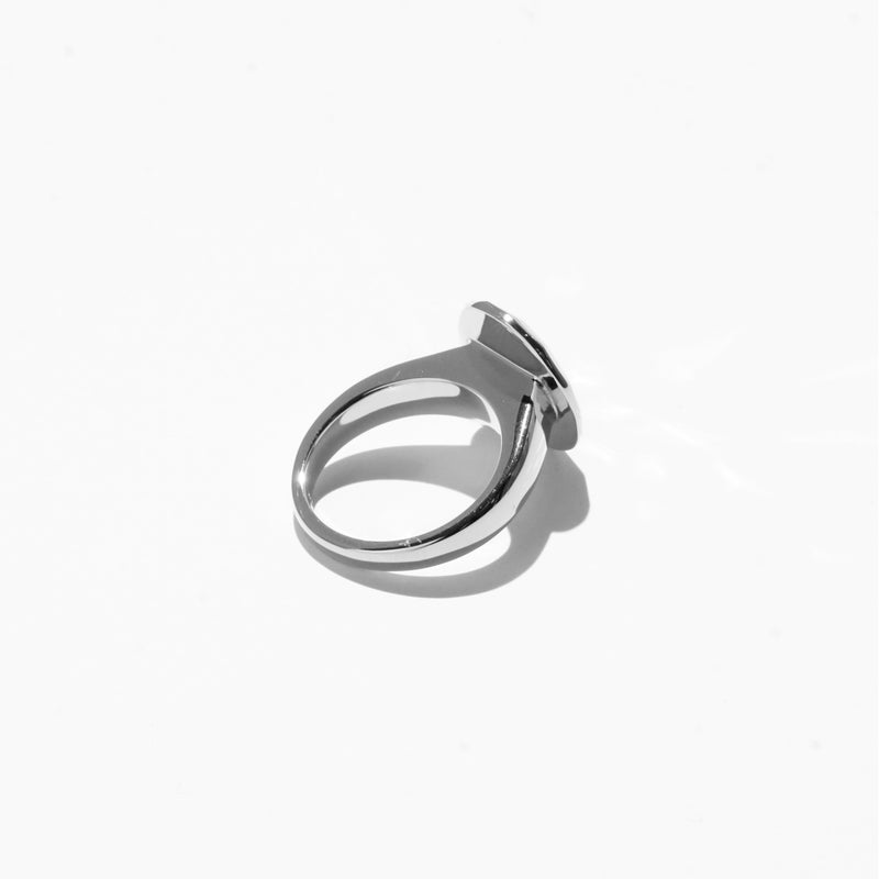 Rings - Oval Cut Jelly Ring - Silver