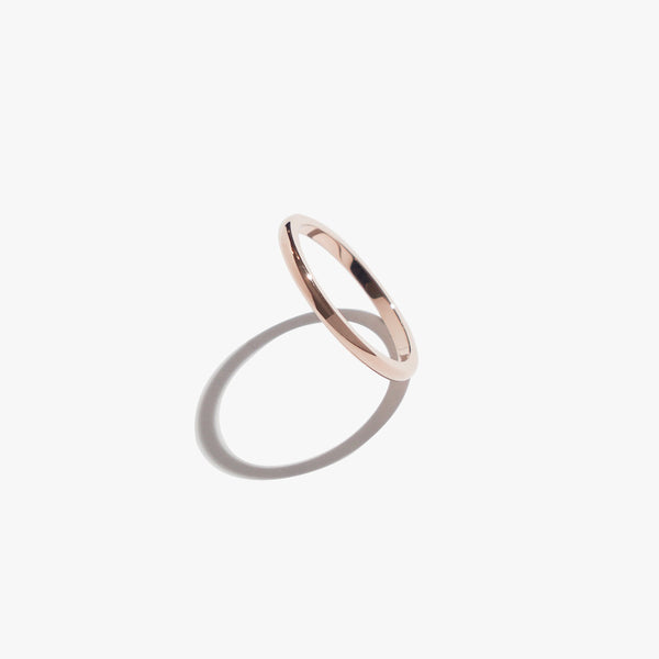Saturn Thin Ring - Rose Gold