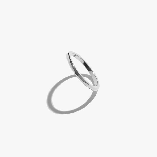Rings - Saturn Thin Ring - Silver