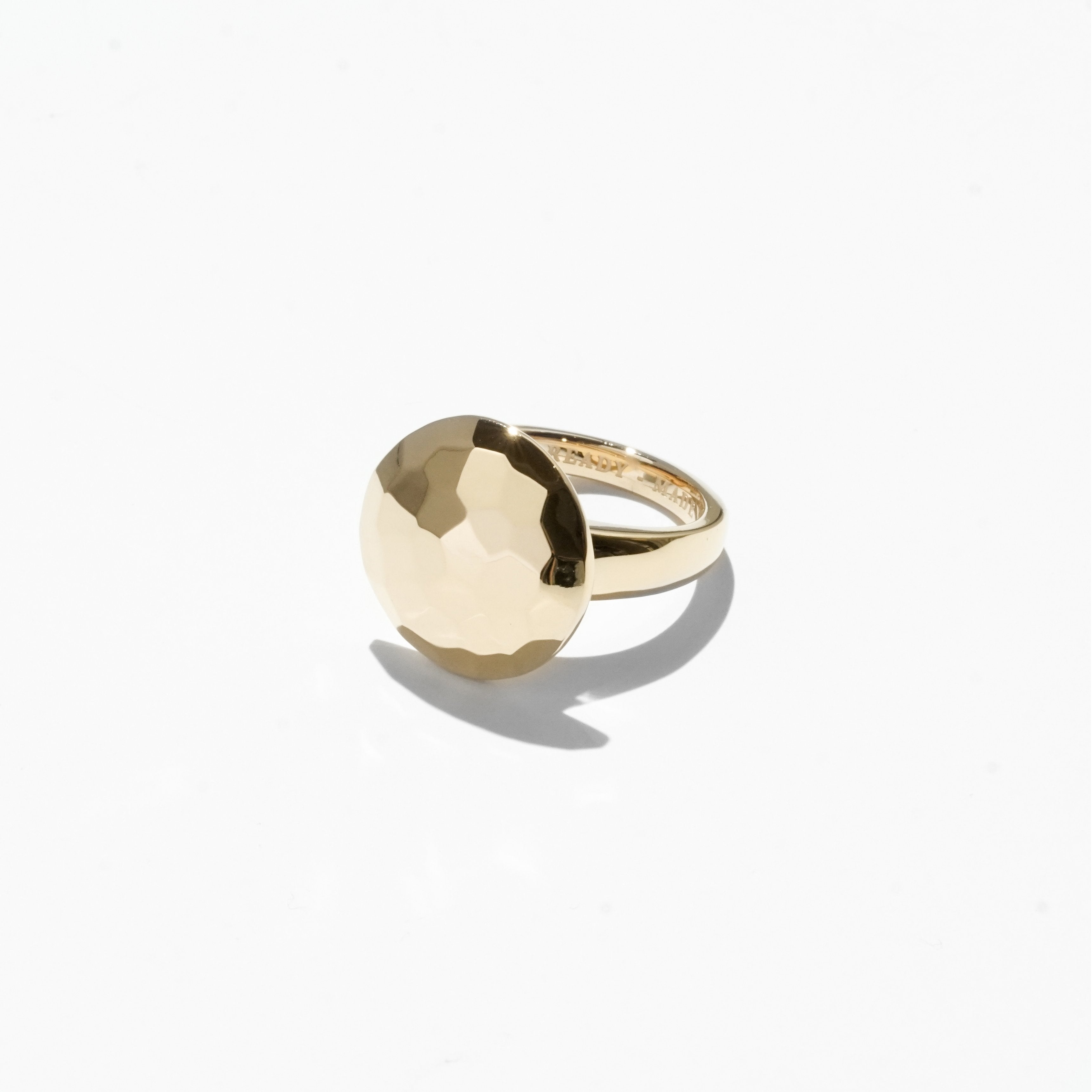 Solitaire Cut Jelly Ring - Gold
