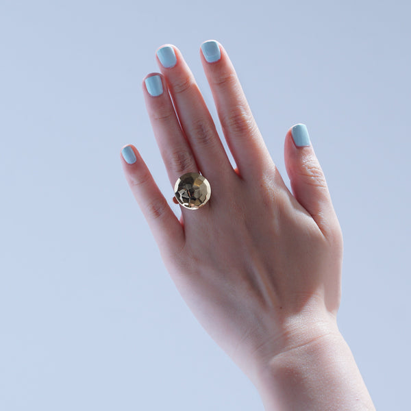 Rings - Solitaire Cut Jelly Ring - Gold