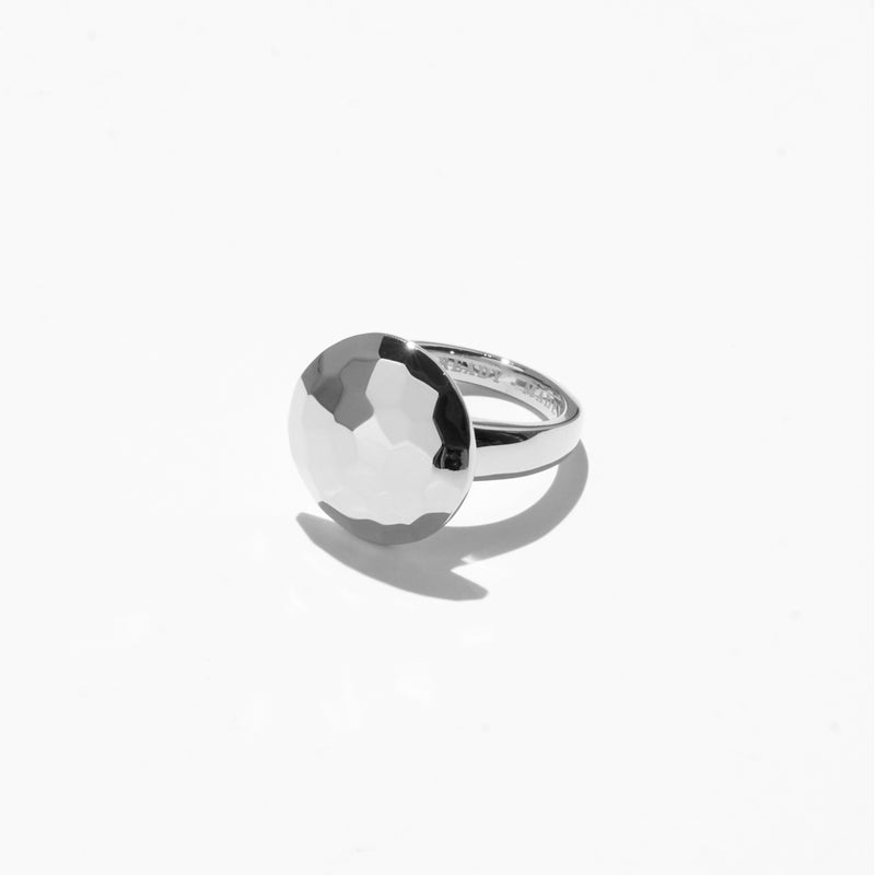 Rings - Solitaire Cut Jelly Ring - Silver