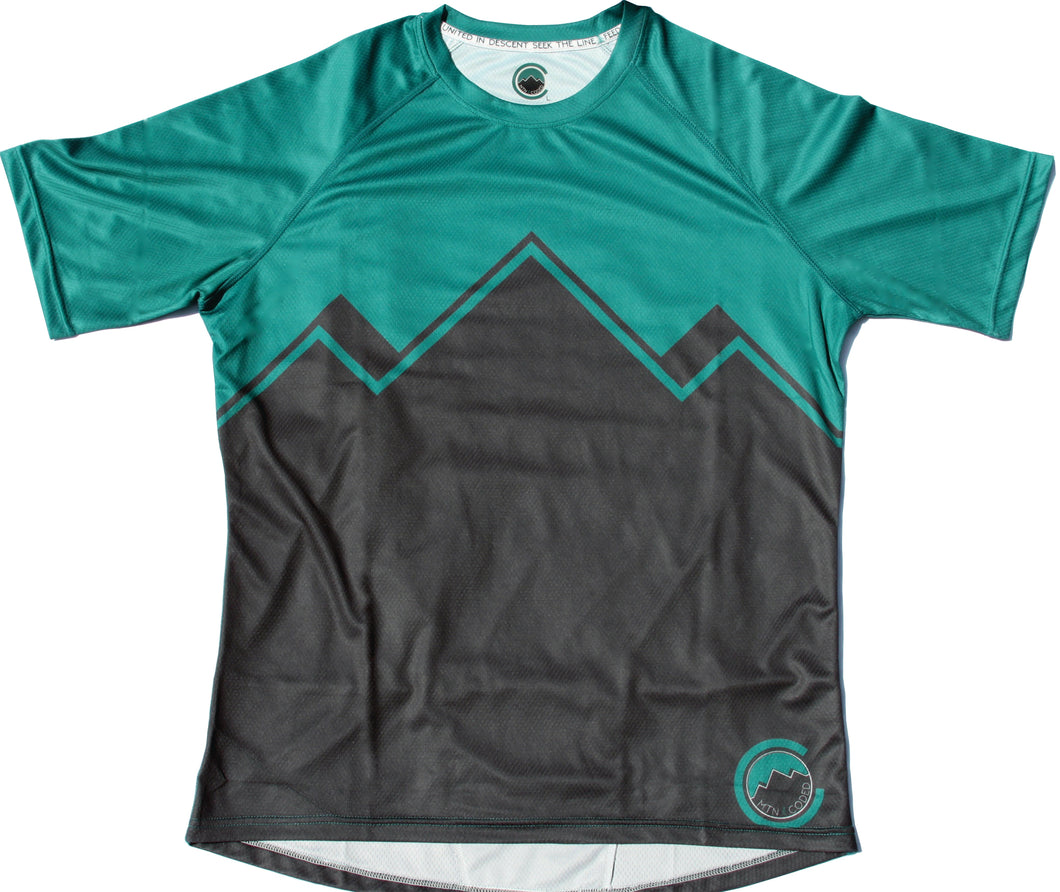 Teocalli Jersey (Charcoal/Evergreen)