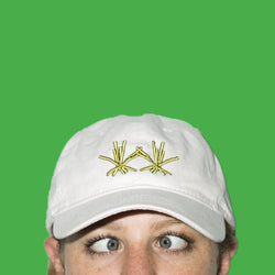 Marston Fries White Embroidered Hat