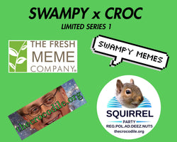 Swampy x Croc Sticker 4 Pack For Charity