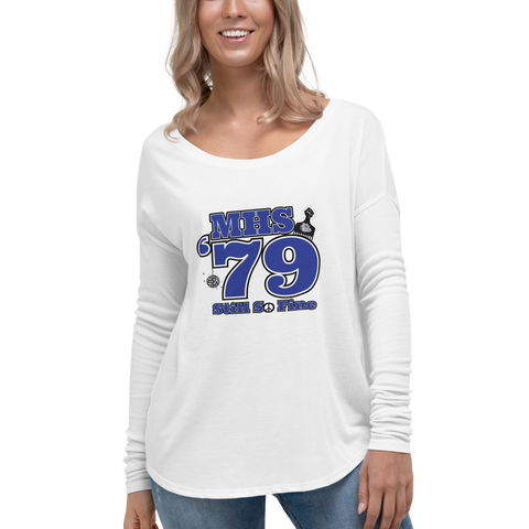 MHS Class of 1979 - Ladies' Flowy Bella + Canvas Long Sleeve Tee