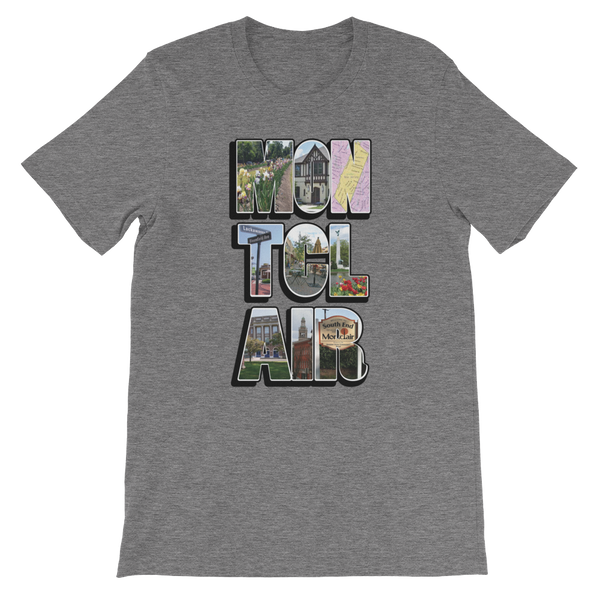 The 'Clair Collage - Unisex short sleeve t-shirt