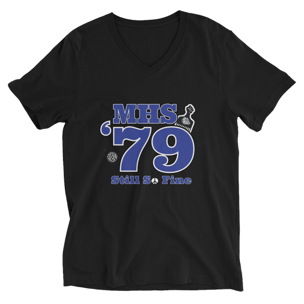 MHS Class of 1979 - Unisex Short Sleeve V-Neck T-Shirt
