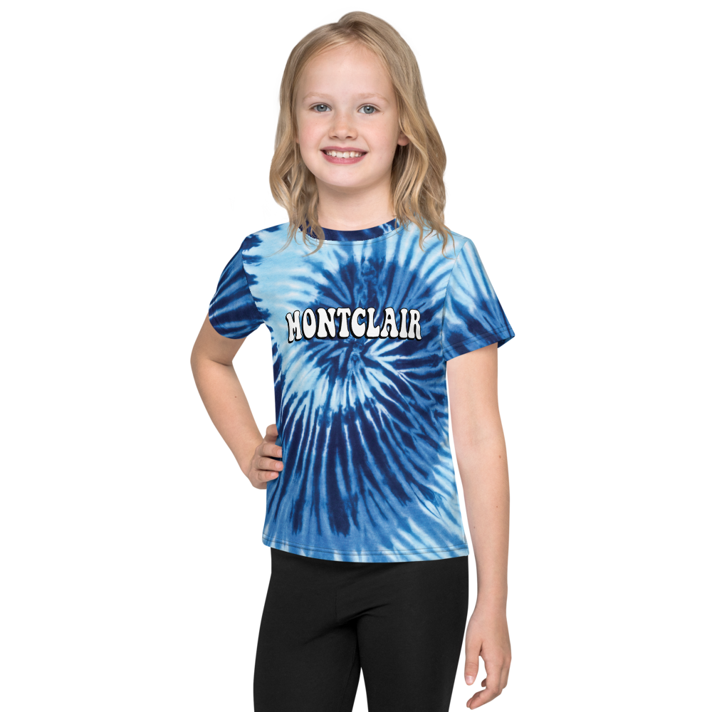 The Hippie - True Blue - Faux Tie Dye - Unisex Kids T-Shirt