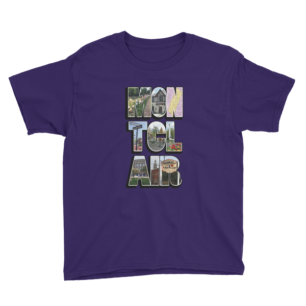 The 'Clair Collage - Youth Short Sleeve T-Shirt