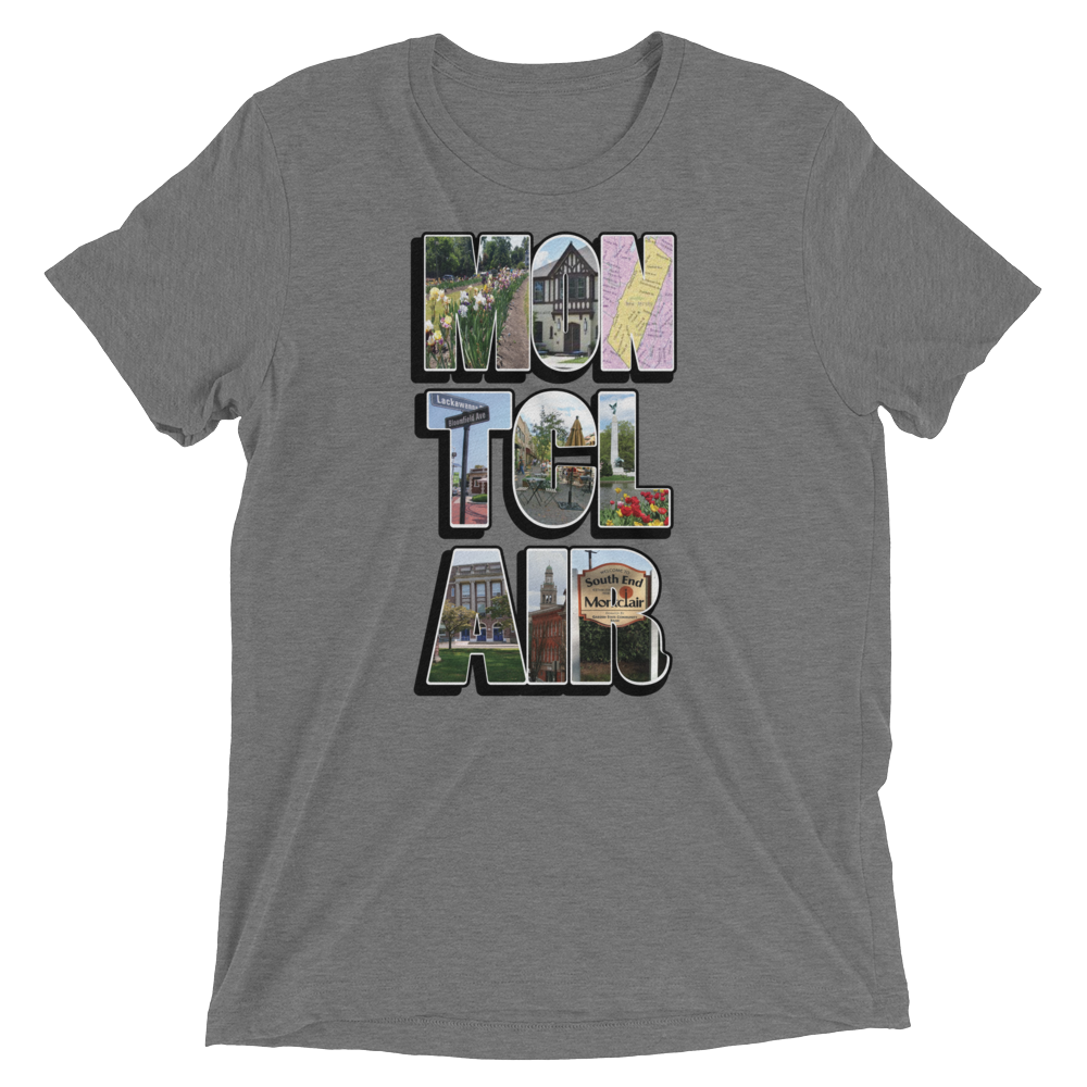 The 'Clair Collage - Unisex Tri-Blend Short sleeve t-shirt