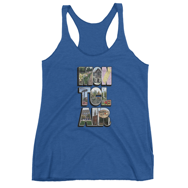 The 'Clair Collage - Women's Tri-Blend tank top