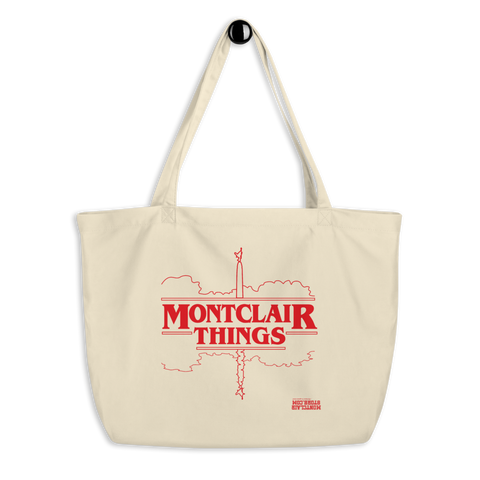 Montclair Things - Red - Large organic tote bag