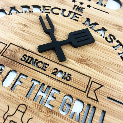 Barbecue Master 3D Personalised Wall Hanging
