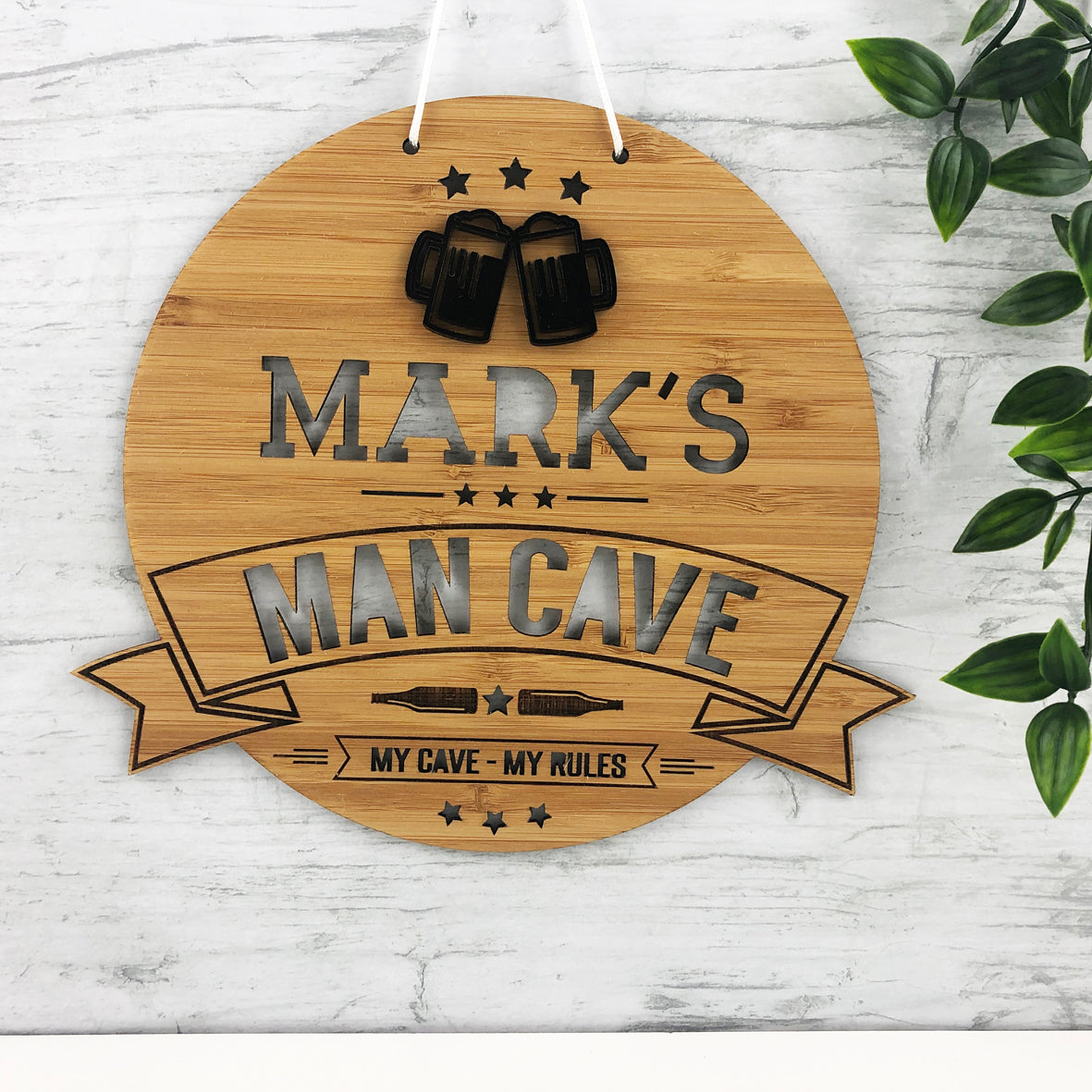 Man Cave 3D Personalised Wall Hanging