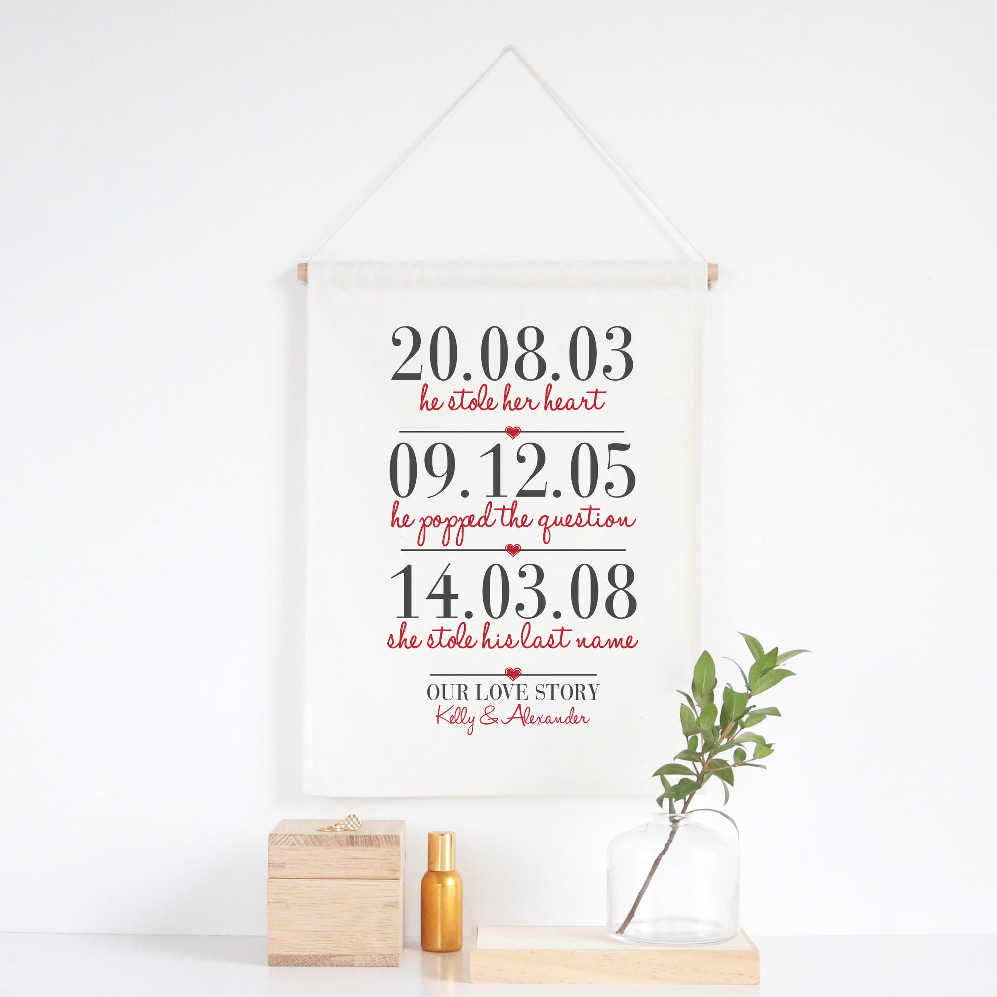 Three Dates Wall Banner