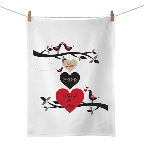 Birds On A Wire Tea Towel