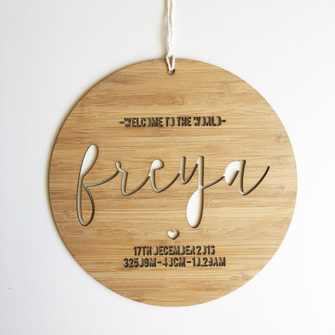Personalised Bamboo Script Names