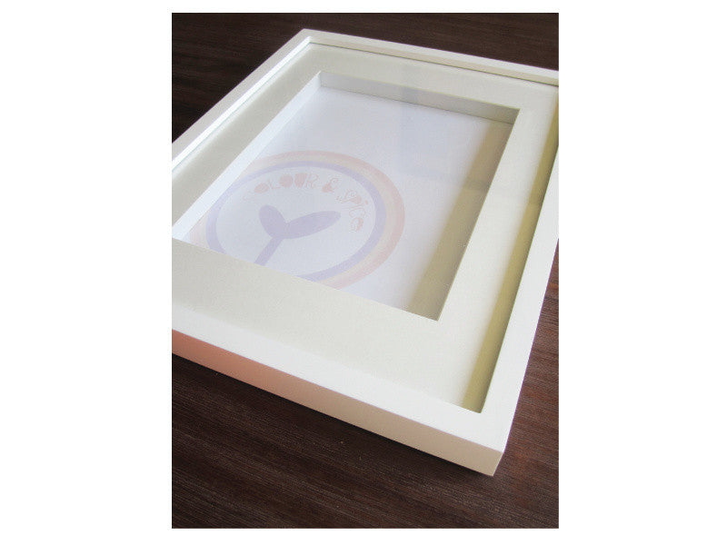 White Shadow Box Frame Colour And Spice Pty Ltd