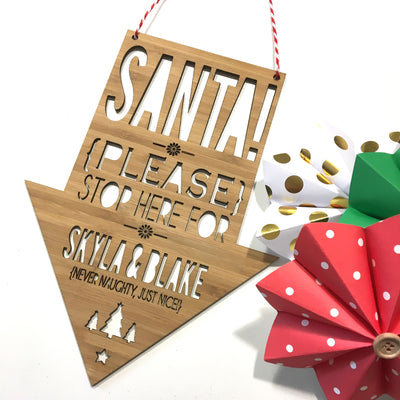 Santa Please Stop Here Wall Hanging (main).jpg