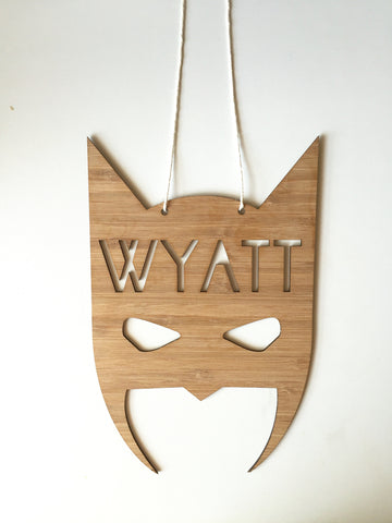 Boys' Round Initial Plywood Wall Hanging