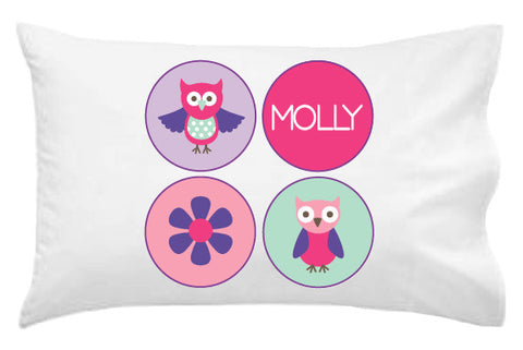 Owls and Hearts Pillowcase