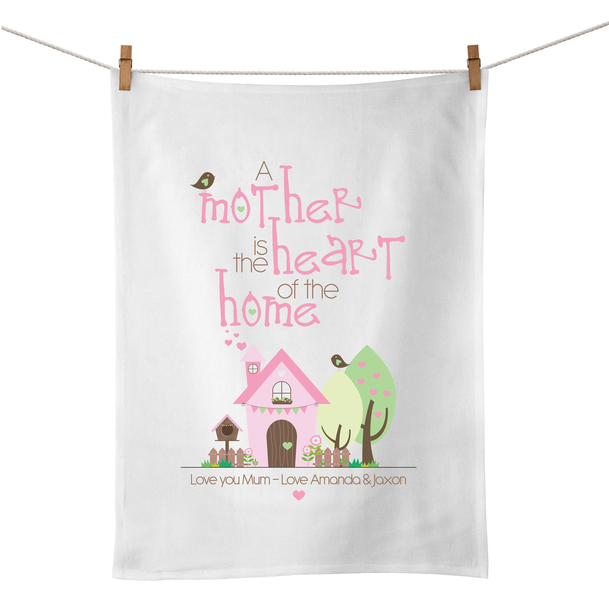 A Mother Is The Heart Of The Home Tea Towel