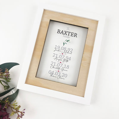 Personalised Printed Family Acrylic Frame