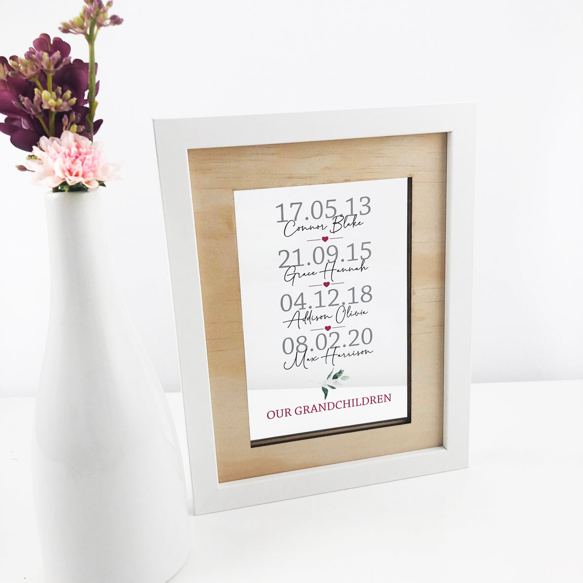 Personalised Printed Transparent Grandchildren Frame